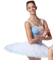Coppelia Tutu, Pancaked, Ladies, Colour: Sky Blue (As Pictured)