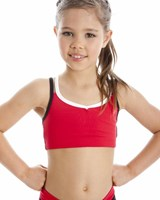 Energetiks Double Strap Crop Top, Childs, CC09