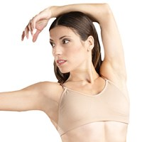 Capezio Seamless Clear Back Bra with Adjustable Straps