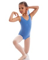 CLEARANCE, Energetiks Gathered Front Leotard, CORNFLOWER, Child's, CL04