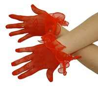 SPECIAL, Red Lace Gloves (Discontinued, limited stock)