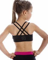 Energetiks Cross Back Crop Top, Childs, CC33