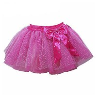 Pretty Bow Play Tutu skirt with attached briefs, Hot Pink (Matches Energetiks Mulberry)
