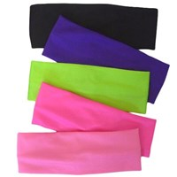 NEW, Wide Headbands, Nylon/Lycra