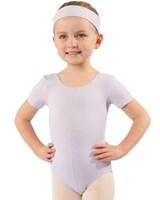 Studio 7 Scoop neck, Short sleeve Leotard, Girls sizes,  (2 Colours)