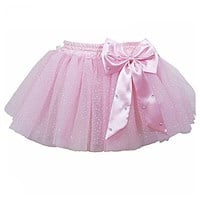 Pretty Bow Play Tutu skirt with attached briefs, Pale Pink (Matches Budget Leotard Pale Pink)