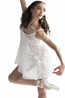 Strut Stuff Adagio Dress, White overlay dress