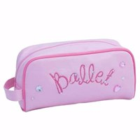 'Ballet' Soft Cosmetic/Pencil Case, Pale Pink