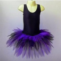 Funky Feathered Skirt, Childs sizes, Purple/Black, (As pictured)  