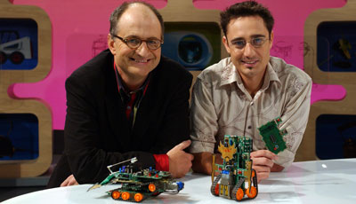 James O'Loghlin and Microbric Inventor, Brenton O'Brien on ABC TV's New Inventors program