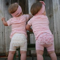 Baby Bella Maya Fancy Frills Bloomers - Cream or Pink