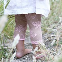 Baby Bella Maya Pink Lacy Legs With Bling