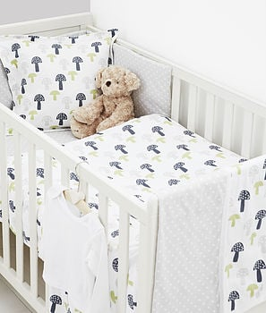 Toadstool design bedding