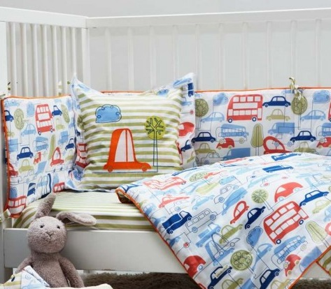 beep beep bedding from ella and otto