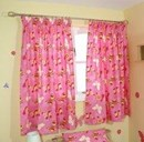 Butterfly sparkly pink curtains