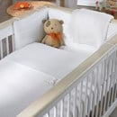 Pure white cotton cot starter bedding bale £10 off RRP