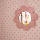 Polka dot nursery wallpaper rose pink