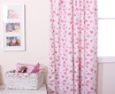 Rosie vintage style rose print curtains