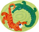 crocodile and tiger jungle rug by Haba SALE