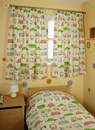 Childrens curtains in cars and buses design