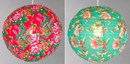Vintage floral large fabric globe lightshades