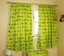 Childrens curtains in bright trucks design
