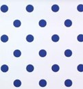 Polka dot nursery wallpaper denim blue spot