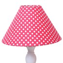 Fabric lampshade in red spot
