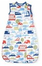 Ella and Otto Baby sleeping bag in contemporary beep beep boys design