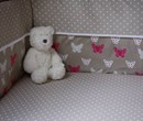 baby cotbed bumper in butterfly design