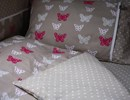 Cotbed bedding set in butterfly design