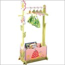Magic garden coat rack rail with storage