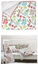 Contemporary Ella and Otto garden print cotton cotbed quilt