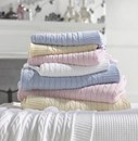 Cotton cable knit cot-bed blankets