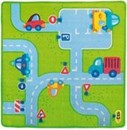 Traffic design boys rug