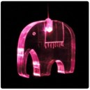 Elephant shape mini led light mobile