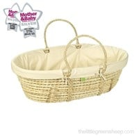 Organic maize Moses basket with organic cotton dressings