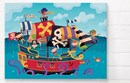 Pirate ship bright canvas wall art  