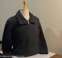 Women's possum and merino jumper with a choice of two necklines