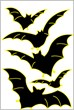 Glow in the Dark Bats Wall Decal