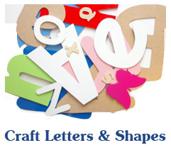 Craft Letters &   Shapes
