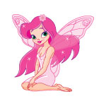 Sitting Pink Fairy
