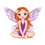 Sitting Purple Fairy