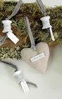 Linen Hearts - Grey Ribbon