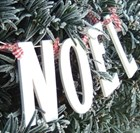 'Noel' Cream Wood Garland