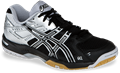 NEW - Asics Gel Rocket 6 Squash / Volleyball Women's Shoes, Black / Silver
