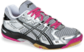 NEW - Asics Gel Rocket 6 Women's Squash / Volleyball Shoes, Silver / Black / Pink