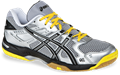 Asics Gel Rocket 6 Men's Squash / Volleyball Shoes, Silver / Black / Yellow