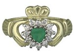 S2523  - Ladies Stone Claddagh Ring