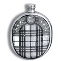 Pewter Etched Tartan Flask